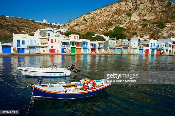 Greece, Cyclades, Milos, fisher village of Klima