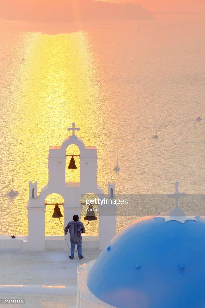 Church of Anastasi in Thira. : News Photo