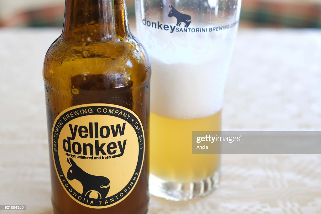 Yellow Donkey local beer. : News Photo