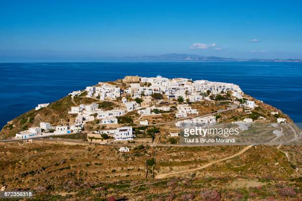 greece, cyclades, sifnos, kastro - rhodes dodecanese islands stock photos and pictures