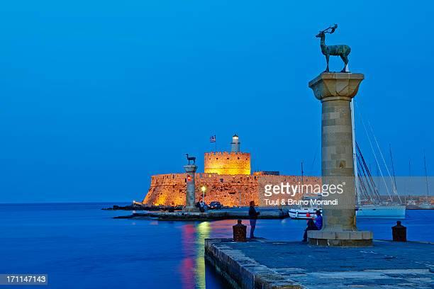 Greece, Dodecanese, Rhodes, Mandraki harbour