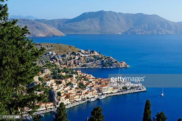Greece, Dodecanese, Symi, Gialos harbour