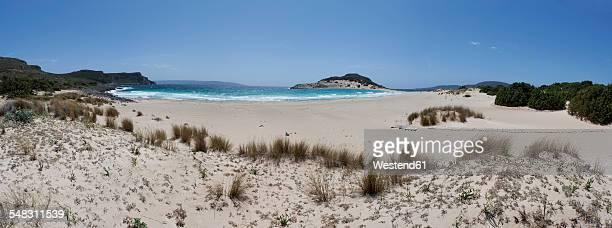 greece, elafonisos, sandy beach - peloponnese stock photos and pictures
