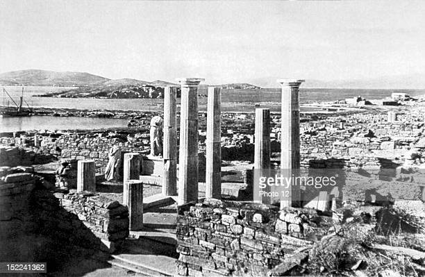 Greece Excavations at Delos Cleopatra and Dioscourides' house built in 130 B C