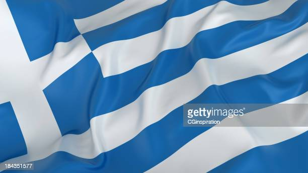 greece flag - greek flag stock pictures, royalty-free photos & images