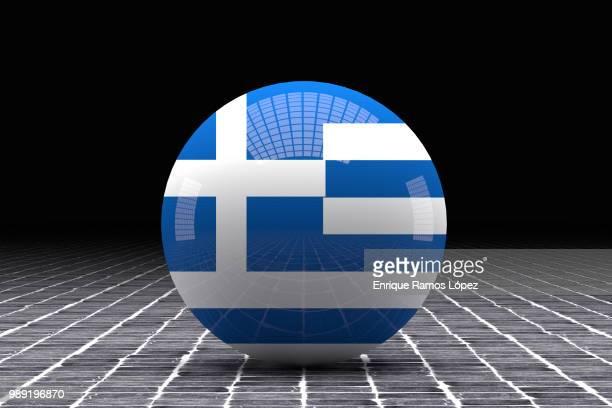 Greece flag sphere