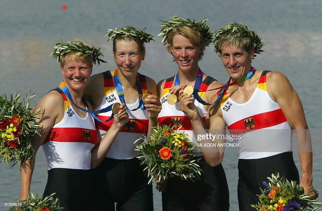 German Kathrin Boron (B), Meike Evers, M : News Photo