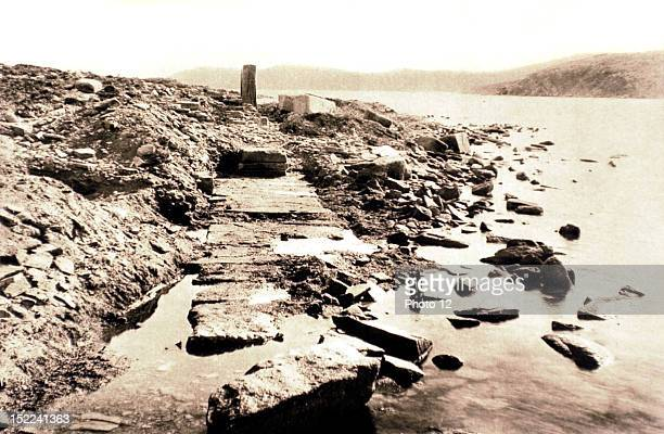 Greece Greece Excavations at Delos The quays of the ancient Delos trade harbour
