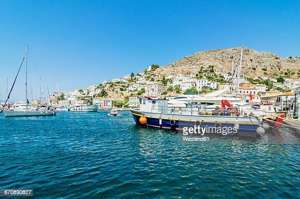 Greece, Hydra, port entrance