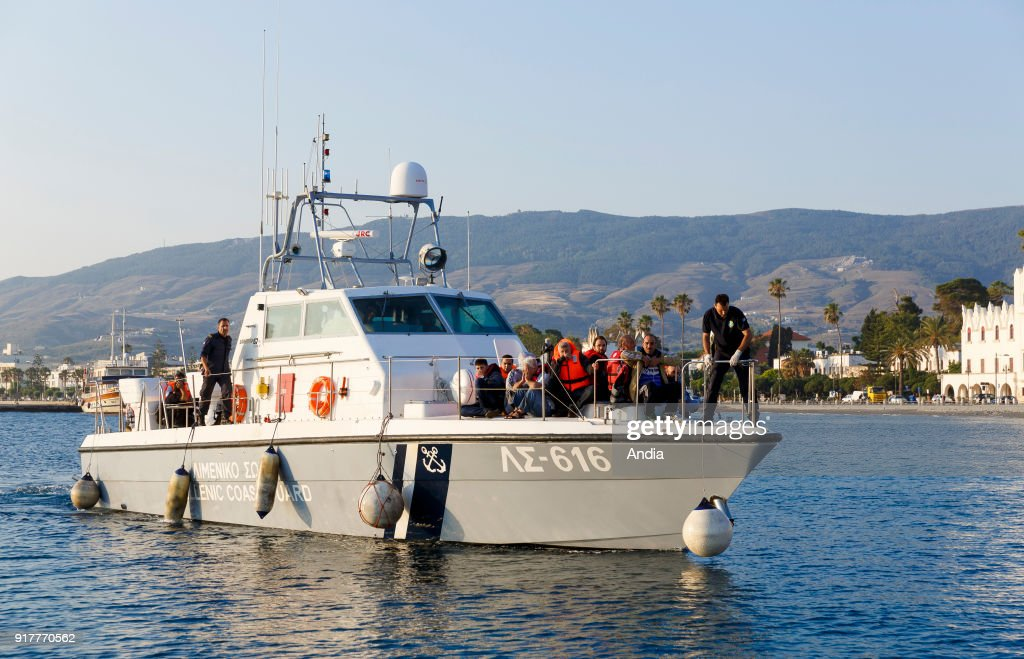 Arrival of migrants on the island of Kos.