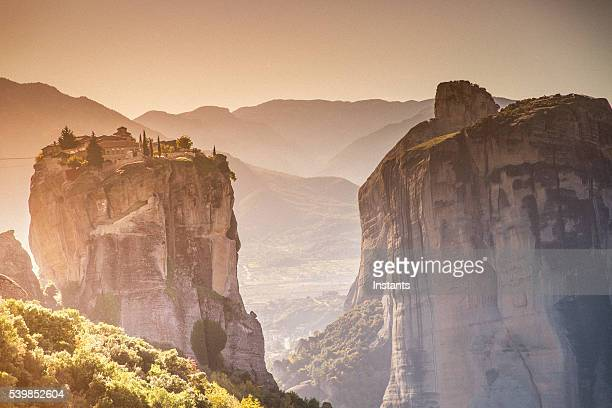 greece kalambaka monasteries - thessaly stock pictures, royalty-free photos & images