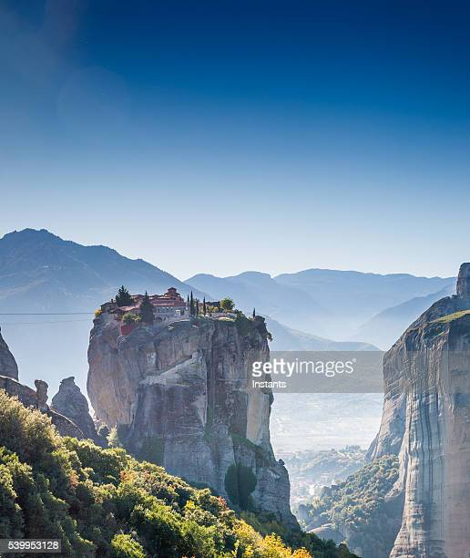 greece kalambaka monasteries - meteora stock pictures, royalty-free photos & images