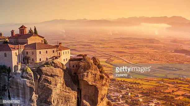 greece kalambaka monastery - greece stock photos and pictures