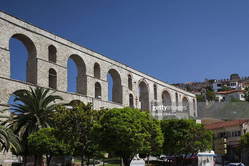 Greece, Kavala, Kamares Aqueduct : Stock Photo