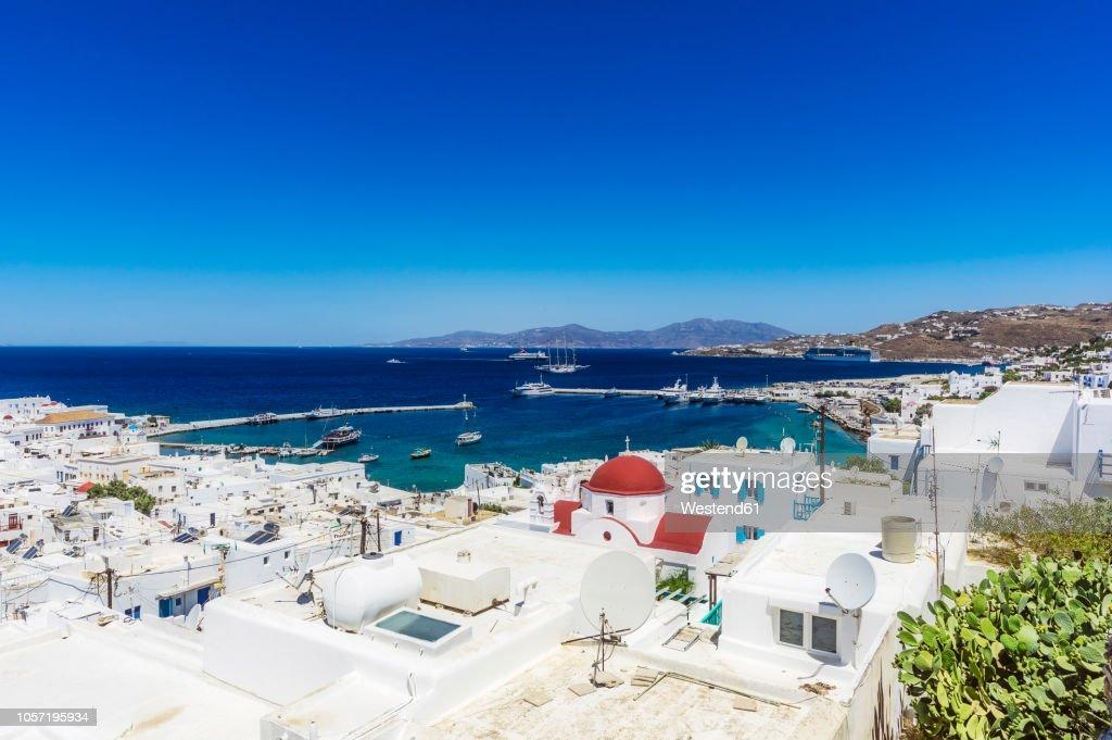 Greece, Mykonos, townscape : Stockfoto