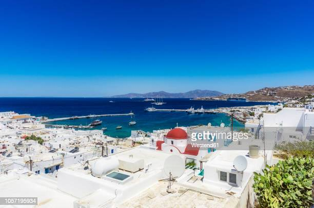 greece, mykonos, townscape - cyclades islands stock pictures, royalty-free photos & images