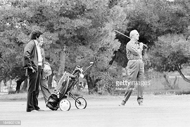 Greece November 2 the statesman Constantine Karamanlis Prime Minister during his visit to France Constantine Karamanlis plays golf every Sunday here...