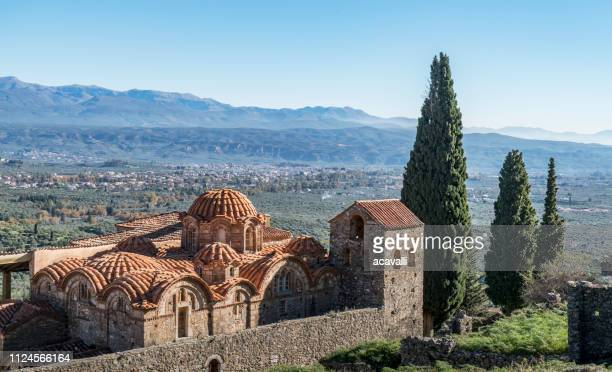 greece. ortodox church - peloponnese stock photos and pictures