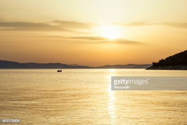 Greece, Pelion, Pagasetic Gulf at sunset