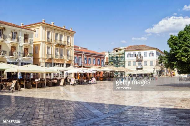 greece, peloponnese, argolis, nauplia, old town, syntagma square - シンタグマ広場 ストックフォトと画像