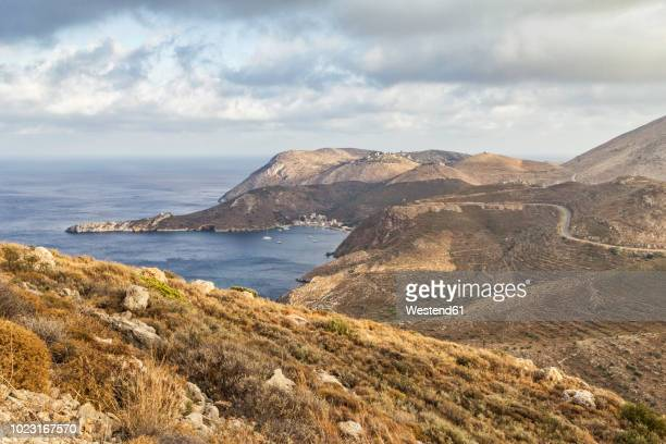 greece, peloponnese, laconia, mani peninsula, cape tenaro - peninsula de grecia fotografías e imágenes de stock