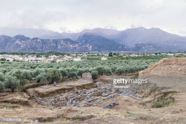 greece, peloponnese, laconia, sparta, amphitheatre - sparta stock photos and pictures