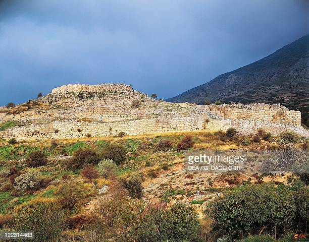 Greece Peloponnesus Mycenae archaeological site Acropolis