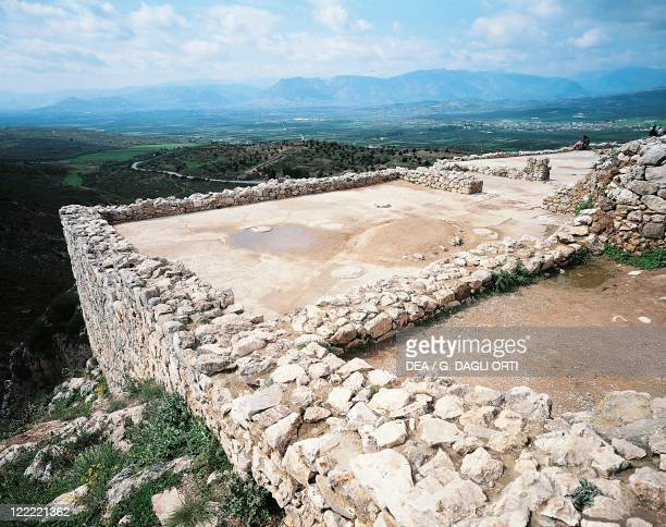 Greece Peloponnesus Mycenae archaeological site Acropolis Royal Palace Megaron 15th century bC