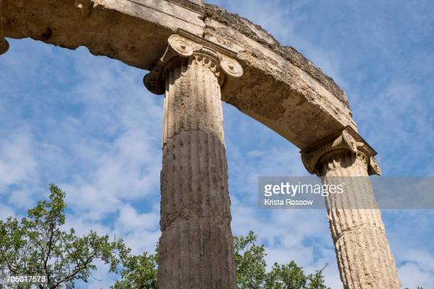 the philippeion memorial in greece. - peloponnese stock photos and pictures