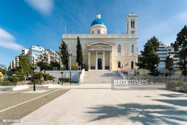 greece, piraeus, orthodox church - piraeus stock photos and pictures