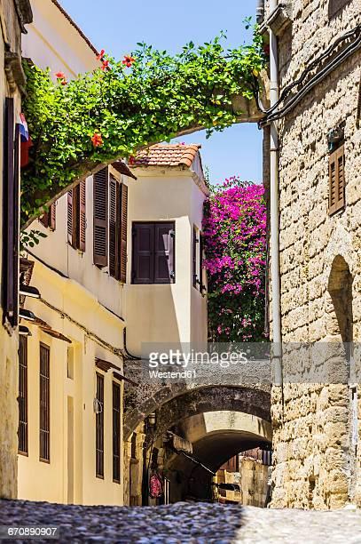 Greece, Rhodes, alley
