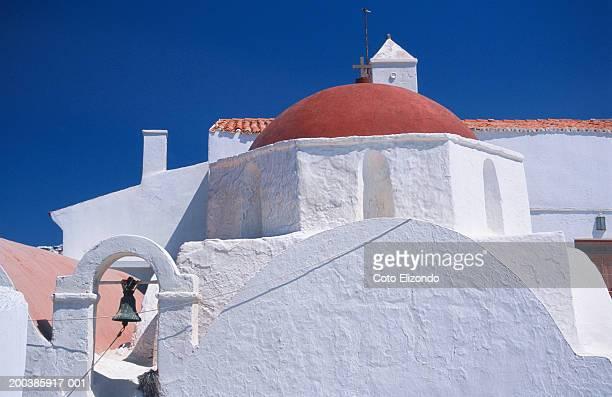 Greece, Santorini, dome of church, close-up