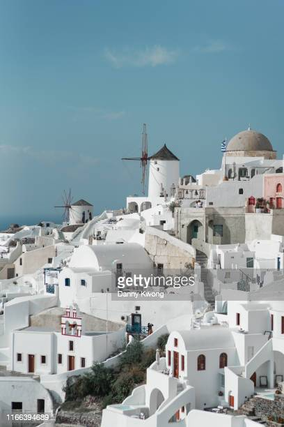 greece santorini oia - oia santorini foto e immagini stock