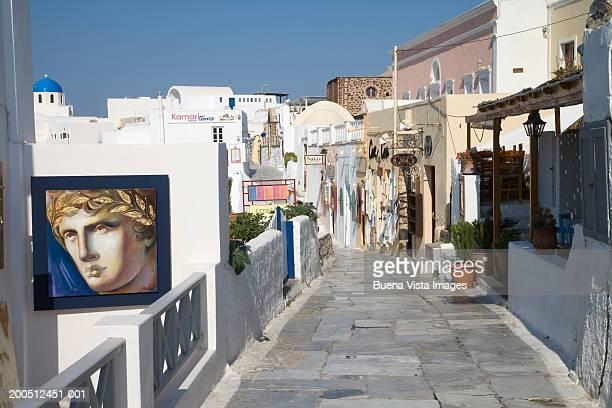 Greece, Santorini, Oia, street scene
