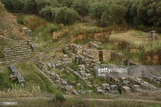 Greece Sparta Roman Theater 3020 BC Ruins Region of Laconia Southeastern Peloponnese