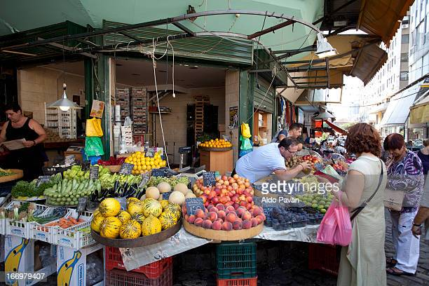 greece, thessaloniki, modiano market - thessaloniki stock pictures, royalty-free photos & images