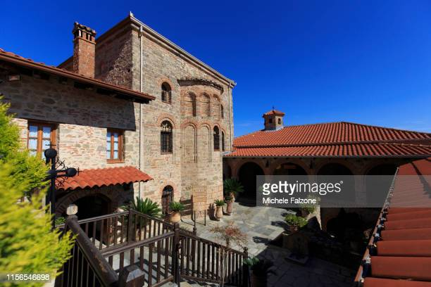 greece, thessaly, meteora - thessaly stock pictures, royalty-free photos & images