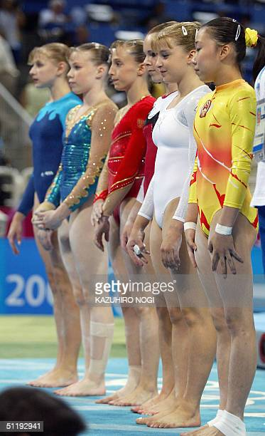 Wang Tiantian of China Anna Pavlova of Russia Kate Richardson of Canada Emilie Lepennec of France Marine Debauve of France and Alina Kozich of...