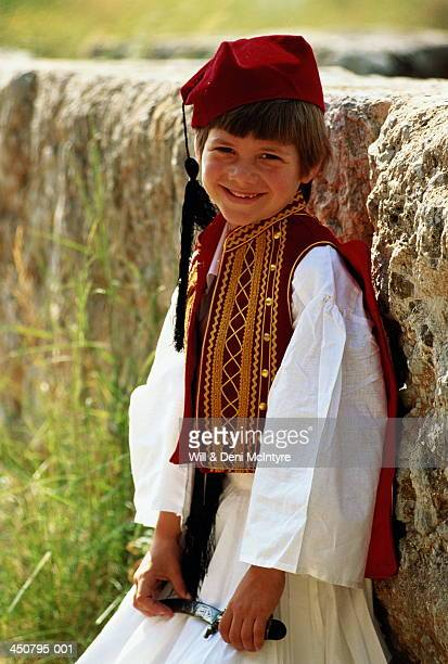 Greece, young boy in traditional costume