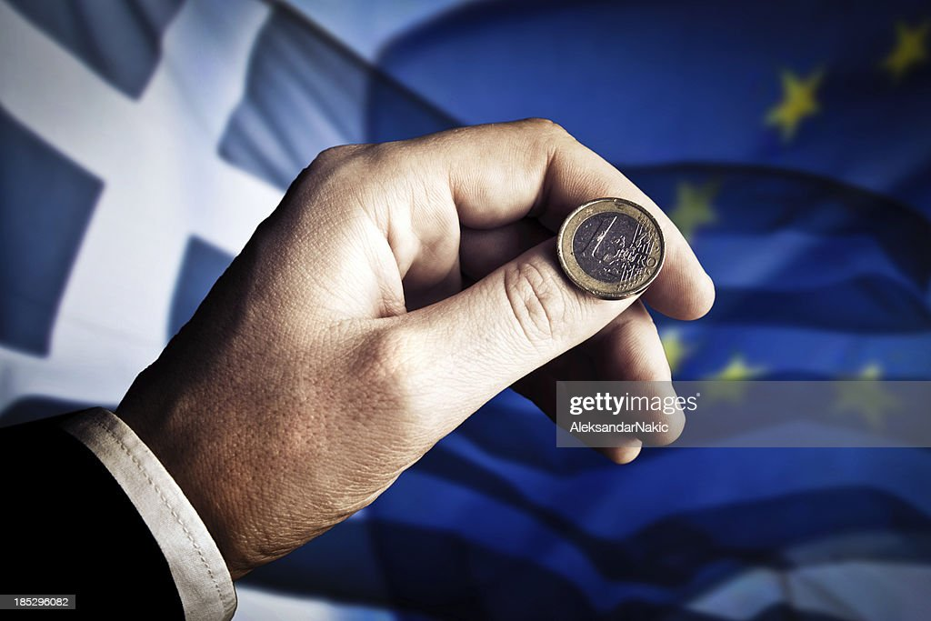 Grecia-Euro crisis : Foto de stock