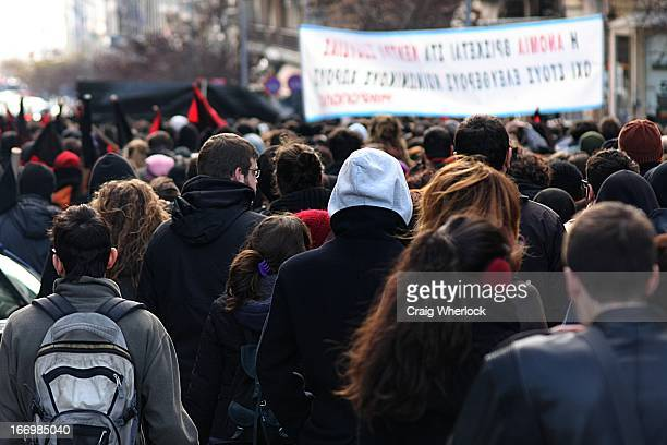 CONTENT] Greece's anarchist movement comes out in force to demonstrate against the police's closure of the Villa Amalia squat in Athens Solidarity...
