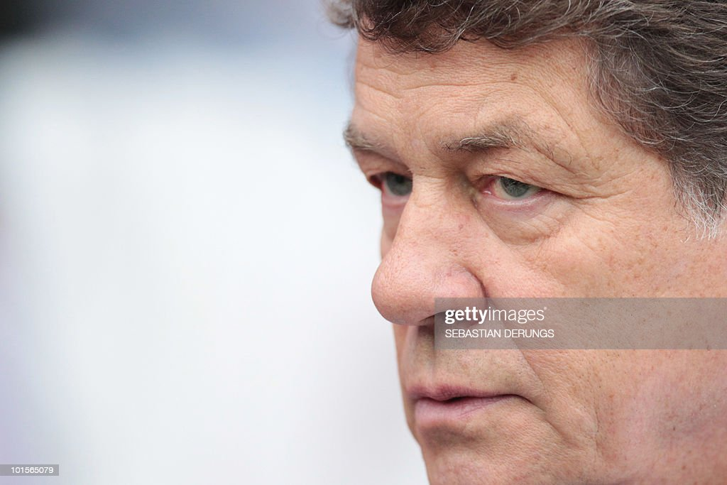 Greece's coach Otto Rehhagel watches a friendly football game against Paraguay in Winterthur on June 2, 2010 ahead of their participation to the FIFA World Cup 2010 in South Africa.