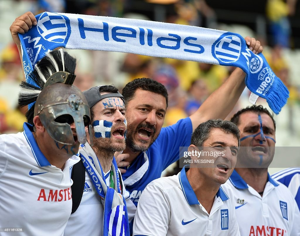FBL-WC-2014-MATCH38-GRE-CIV-FANS : News Photo