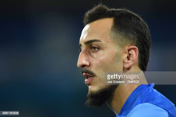 Greece's Konstantinos Mitroglou during a training session at Arena das Dunas in Natal