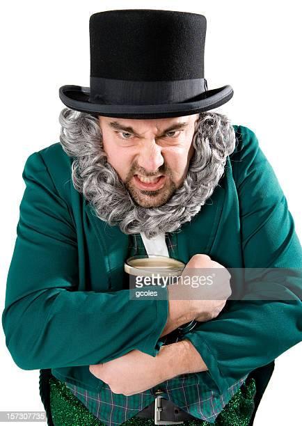 greedy leprechaun - leprechaun stock pictures, royalty-free photos & images
