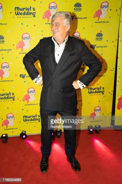 Greedy Smith attends opening night of Muriel's Wedding The Musical at Lyric Theatre Star City on July 04 2019 in Sydney Australia