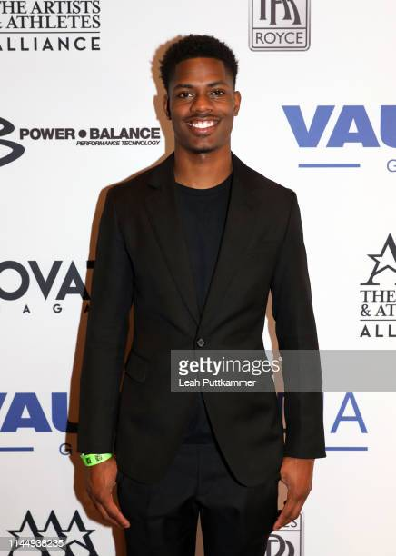 Greedy Williams of Louisiana State University attends the Vault Media Group and Ovation Magazine 2019 NFL Draft kickoff party at STK Nashville on...