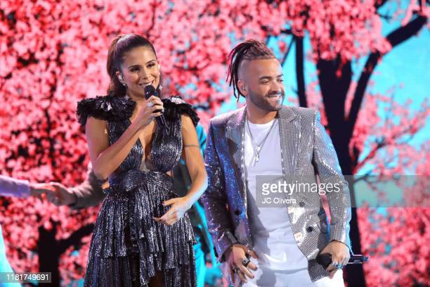Greeicy and Nacho perform onstage during the 2019 Latin American Music Awards at Dolby Theatre on October 17 2019 in Hollywood California