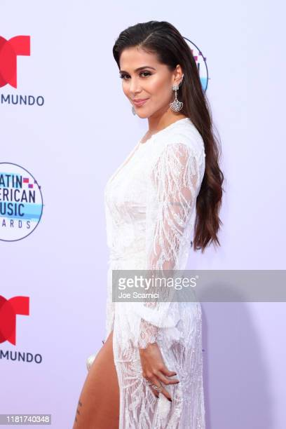 Greeicy attends the 2019 Latin American Music Awards at Dolby Theatre on October 17 2019 in Hollywood California