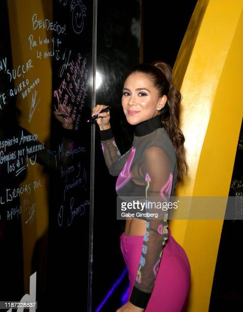 Greeicy attends the gift lounge during the 20th annual Latin GRAMMY Awards at MGM Grand Hotel Casino on November 12 2019 in Las Vegas Nevada